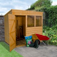 7 x 5ft Shiplap Dip Treated Pent Shed with Windows