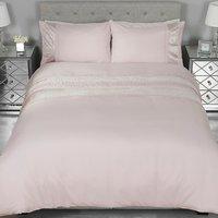 Geometric Velvet Stripe Duvet Cover and Pillowcase Set -  / Double