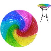 Rainbow Swirl Bird Bath