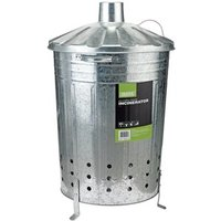 Draper Galvanised Garden Incinerator - Silver