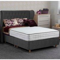 Jonas and James Dartmoor Divan Bed Set - Plush Steel / 1500mm / Single / 4