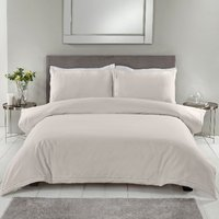 Echelle Ladder Stitch 200 Thread Count Duvet Cover and Pillowcase Set - Natural / Double