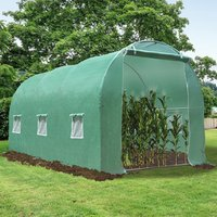 Greenhouse Walk In Polytunnel Flower and Vegetable Planter