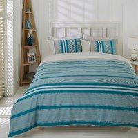 Marlow Stripe Duvet Cover and Pillowcase Set - Petrol / King