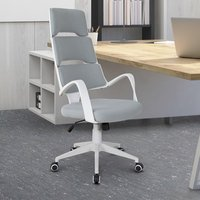 'High Back Office Chair Work Executive 360 Swivel With 5 Castors - Blue