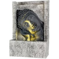 Leaning Buddha Water Feature - Grey