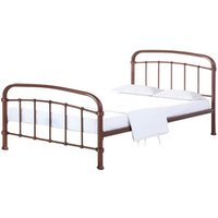 Halston Metal Frame Bed - Copper / Double