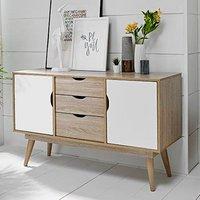 Scandi 3 Drawer Sideboard - White