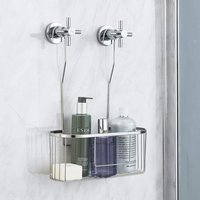 Stainless Steel Hanging Shower Mixer Caddy - SIlver