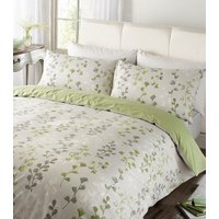 Honour Printed Duvet Cover and Pillowcase Set - Green / Double