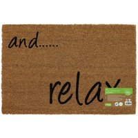 Backed Coir Entrance Door Mat And Relax