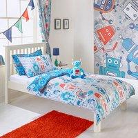 Blue Robot Kids Duvet Cover Set - Double