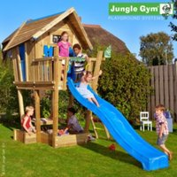 Jungle Gym Crazy Playhouse with Installation - Brown