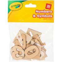 'Crayola Wooden Numbers And Symbols