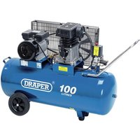 Draper 2.2kW Belt Driven Air Compressor (100L) - Blue