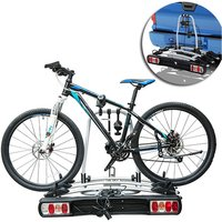 3 Bicycle Carrier Rear-mounted SUV Mountain Hitch Mounted Rack - Silver