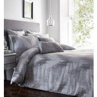 Quartz Duvet Cover and Pillowcase Set - Silver / Super King