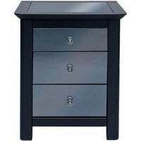 'Ayr 3 Drawer Mirrored Bedside Cabinet
