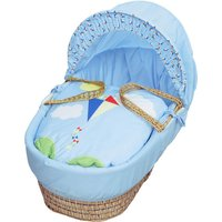 Blue Kite Moses Basket with Natural Opal Folding Stand