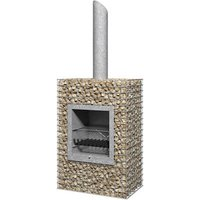 Galvanised Mesh Chimnea - Square