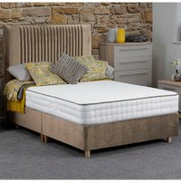 Jonas and James Hadleigh Divan Bed Set With Mattress - Stone / Single / 2