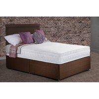 Torridge Non Storage Divan Bed with Mattress - Brown / Single
