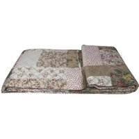 Beautiful Printed Quilted Bedspread Throw - D314