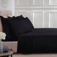Polycotton Flat Sheet - Black / Double