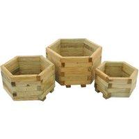 Set of Three York Hexagonal Planters
