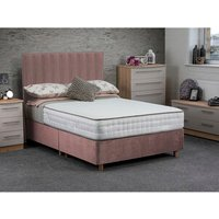 Jonas and James Osbourne Non Storage Divan Bed With Mattress - Blush / Single