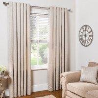 Diamond Geo Jacquard Eyelet Curtains - Natural / 137cm / 117cm