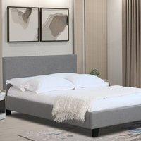 Fabric Modern Bed Frame Light Grey Dark Grey - Light Grey / Small Double