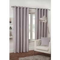 Pure Cotton Eyelet Curtains - Lilac / 229cm