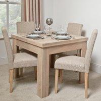 Calpe Flip Top Extending Dining Table