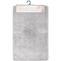 Bath Mat Set - Silver