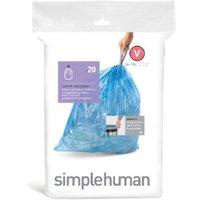 Pack of Simplehuman Custom Fit Bin Liners - 20 / V