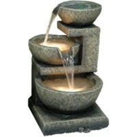 Three Bowl Cascading Water Feature - Stone