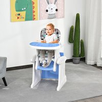 3-in-1 Convertible Baby High Chair Booster Seat - Blue