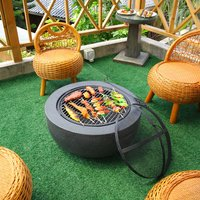 Barbecue Grill for Garden - Grey