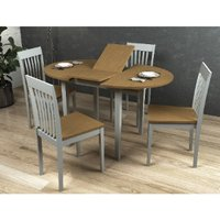 Banbury 5 Piece Extending Dining Set - Grey / Oak