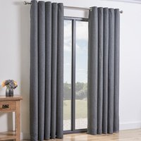 Taylor Eyelet Curtains - Charcoal / 229cm