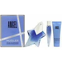 'Thierry Mugler Angel Eau De Parfum Women's Perfume Gift Set Spray 50ml  - Blue