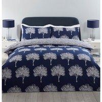 Woodbury Duvet Cover and Pillowcase Set - Navy / King