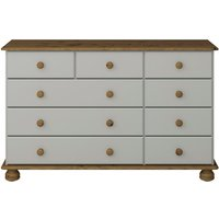 Steens Richmond Nine Drawer Chest - Grey and Pine
