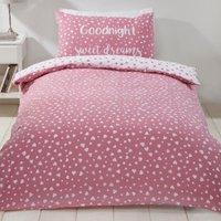 Sweet Dreams Duvet Cover and Pillowcase Set - Pink / Single