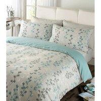 Honour Printed Duvet Cover and Pillowcase Set - Blue / Double