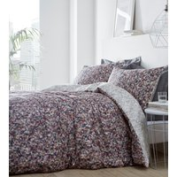 Muse Duvet Cover and Pillowcase Set - Purple / Double