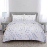 Fearne Silhouette Duvet Cover and Pillowcase Set - Heather / King