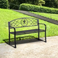 Outdoor Patio Garden Bench  - Black