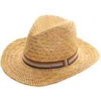 Mens Straw Fedora Hat - Straw Hat